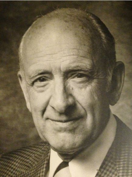 Portrait of George Gibson, the Edinburgh-born scenic artist who was at the helm of MGM's scenic art department